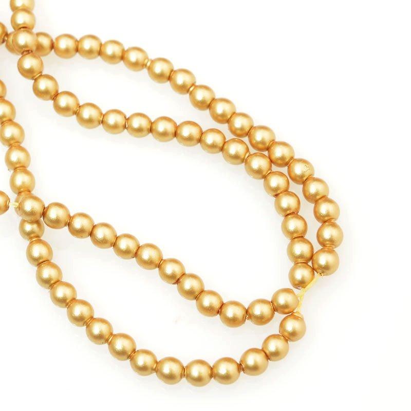 277236-012 Swarovski Pearl - 2 mm Round Pearl (5810) - Vintage Gold Pearl (200)