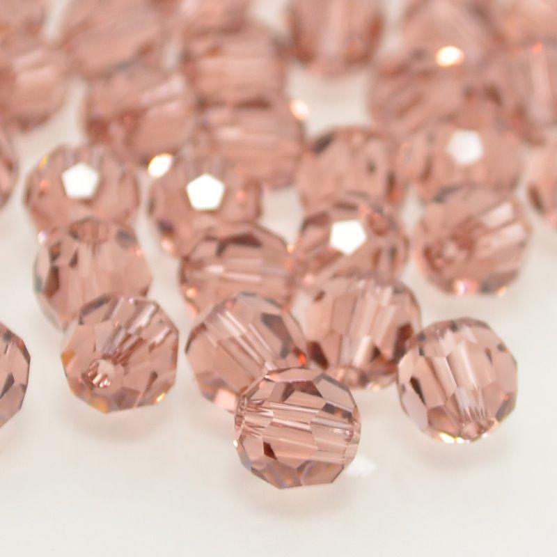 27750001725257 Swarovski Bead - 6 mm Faceted Round (5000) - Blush Rose (1)