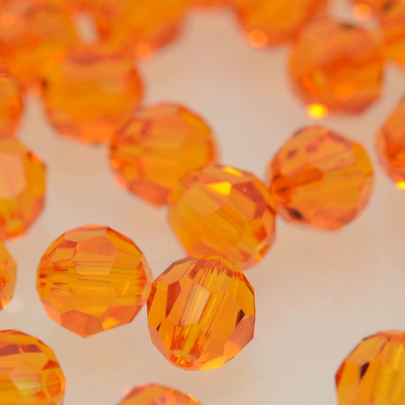 27750001725259 Swarovski Bead - 6 mm Faceted Round (5000) - Tangerine (1)
