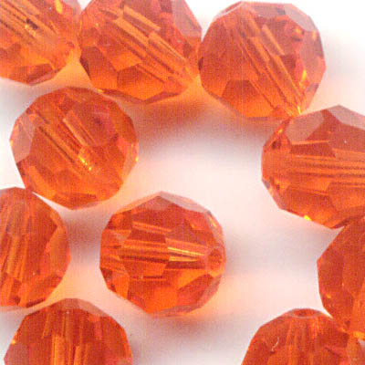 27750001739372 Swarovski Bead - 6 mm Faceted Round (5000) - Red Topaz (1)