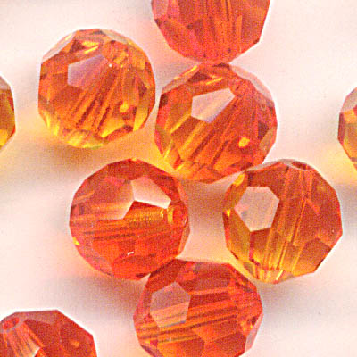 27750001750237 Swarovski Bead - 6 mm Faceted Round (5000) - Fireopal (1)