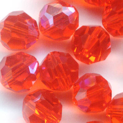 27750001799236 Swarovski Bead - 6 mm Faceted Round (5000) - Hyacinth AB (1)