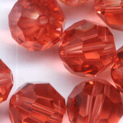 27750002232542 Swarovski Bead - 8 mm Faceted Round (5000) - Padparadscha (1)