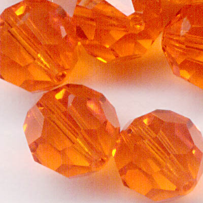 27750002237372 Swarovski Bead - 8 mm Faceted Round (5000) - Red Topaz (1)