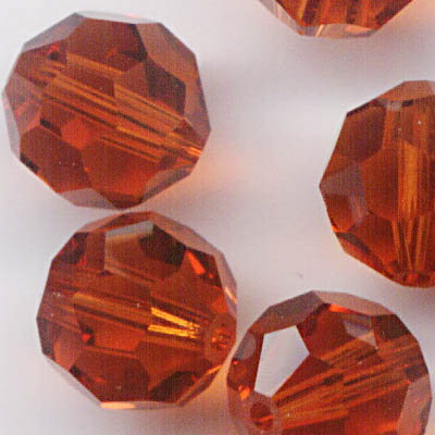 27750002241374 Swarovski Bead - 8 mm Faceted Round (5000) - Indian Red (1)
