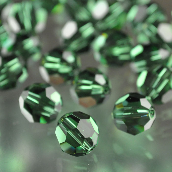 2775000s37040 Swarovski Elements Bead - 8 mm Faceted Round (5000) - Green Turmaline (1)