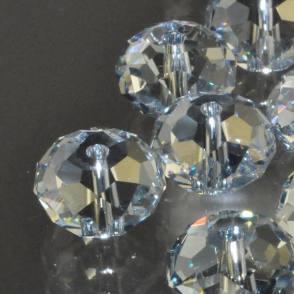 27750402052003 Swarovski Elements Bead - 12 mm Faceted Donut (5040) - Crystal Blue Shade (1)