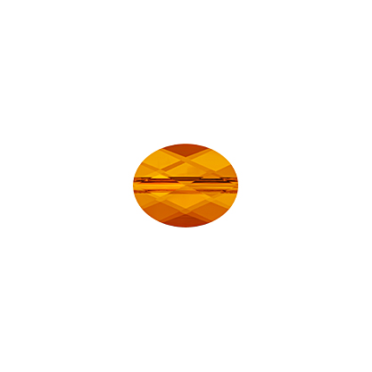 27750510060259 Swarovski Bead - 8 x 10 mm Mini-Oval (5051) - Tangerine (1)
