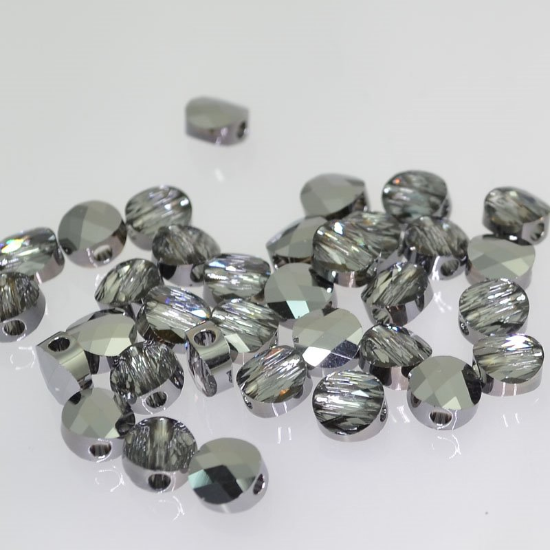 27750520035001 Swarovski Bead - 6 mm Mini-Round (5052) - Crystal Silver Night (1)