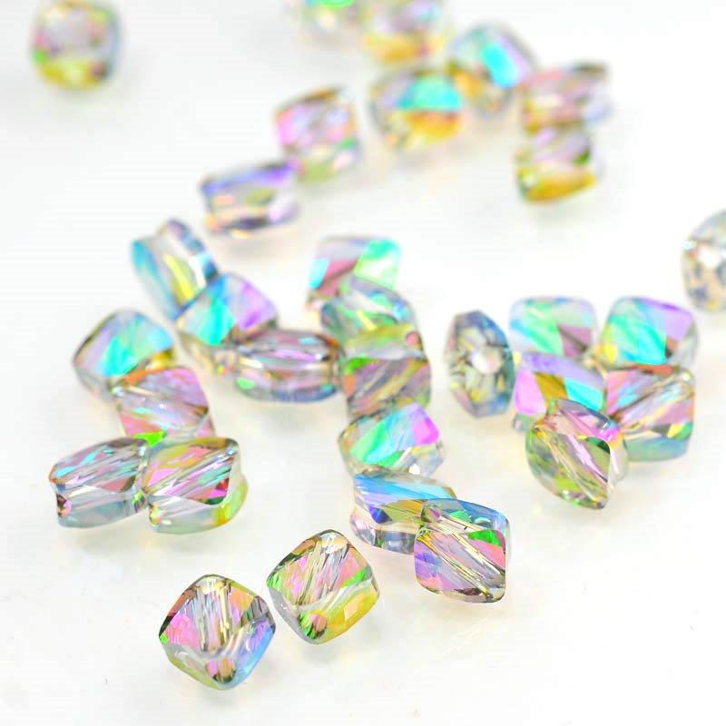 27750540020007 Swarovski Bead - 6 mm Mini-Rhombus(5054) - Crystal Paradise Shine (1)