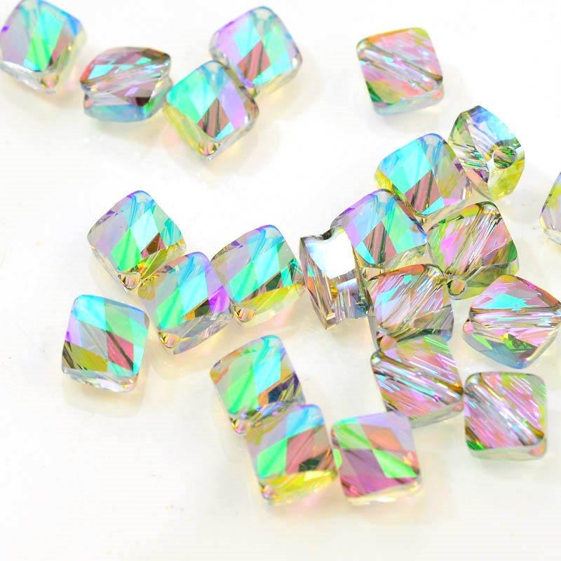 27750540060007 Swarovski Bead - 8 mm Mini-Rhombus(5054) - Crystal Paradise Shine (1)