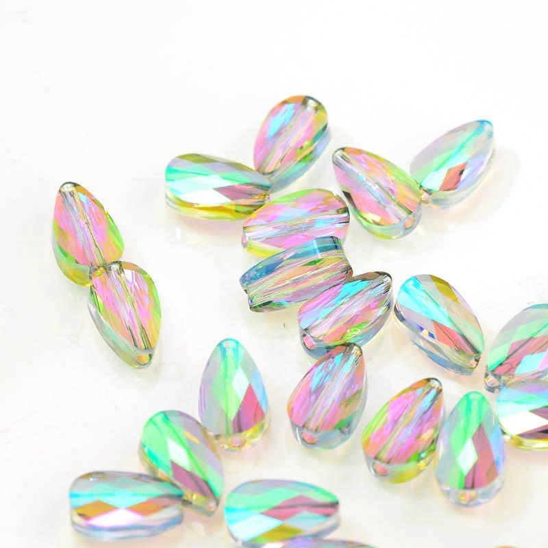 27750560020007 Swarovski Bead - 6 x 10 mm Mini-Drop(5056) - Crystal Paradise Shine (1)