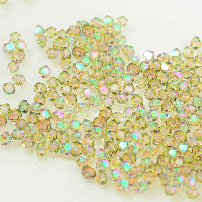 27753011188007 Swarovski Bead - 3 mm Faceted Xilion Bicone (5328) - Crystal Paradise Shine (36)