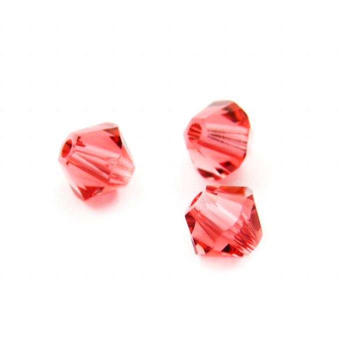 27753011274542 Swarovski Bead - 4 mm Faceted Bicone (5301) - Padparadscha (36)