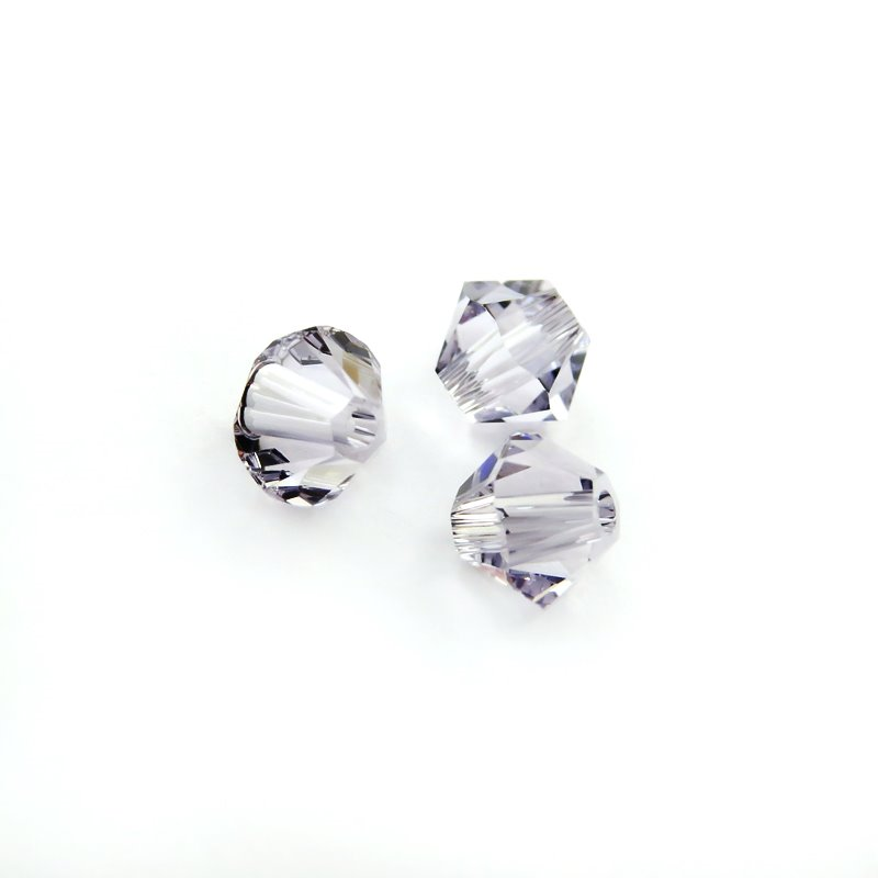 27753011333265 Swarovski Elements Bead - 4 mm Faceted Bicone (5301) - Smokey Mauve (36)