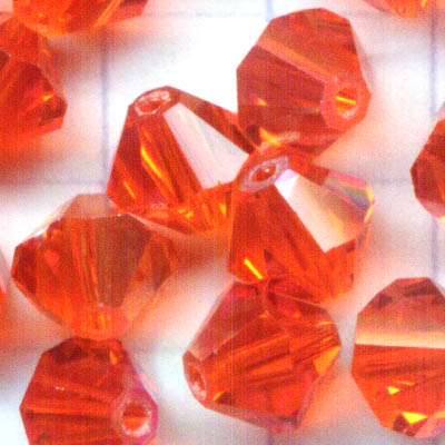 27753012089236 Swarovski Bead - 6 mm Faceted Bicone (5301) - Hyacinth AB (1)