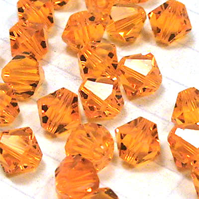 27753016mmsun Swarovski Bead - 6 mm Faceted Bicone (5301) - Sun (1)