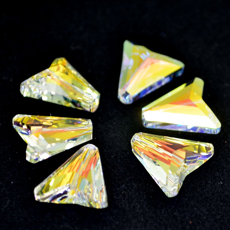 27757480055001 Swarovski Crystal Pendant - 16 mm Arrow (5748) - Crystal AB (1)