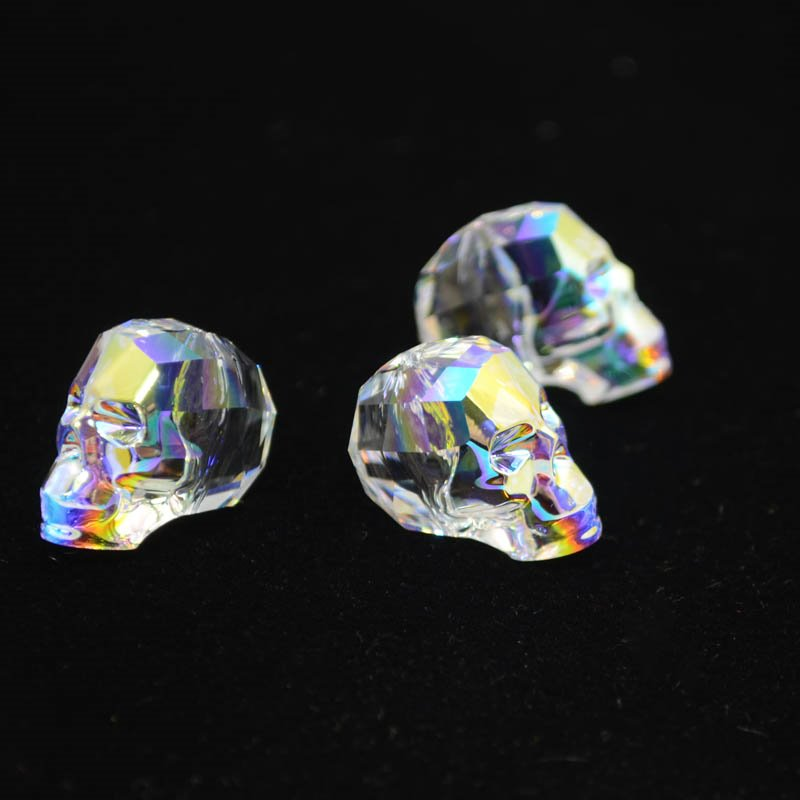 2775750s38824 Swarovski Bead - 19 mm Faceted Skull (5750) - Crystal AB