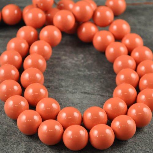 27758110060312 Swarovski Gemstone Pearl - 14 mm Round Pearl (5811) - Coral Pearl (5)