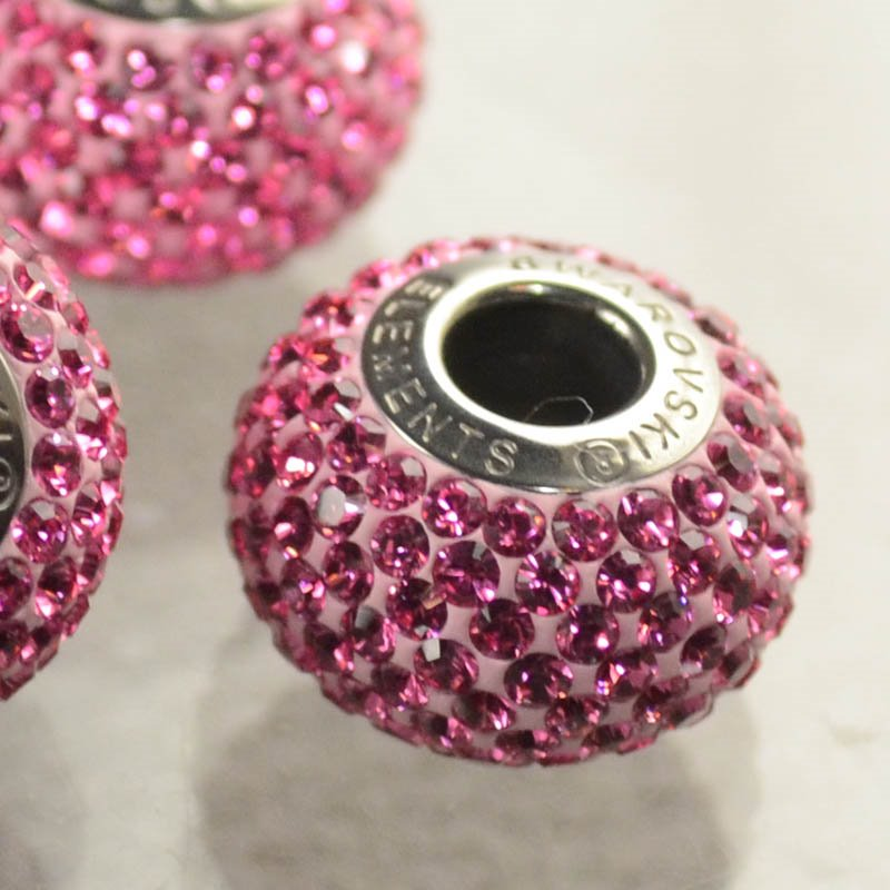 27780101015209 Swarovski Elements Bead - 14 mm Becharmed Pave (8010) - Rose (1)