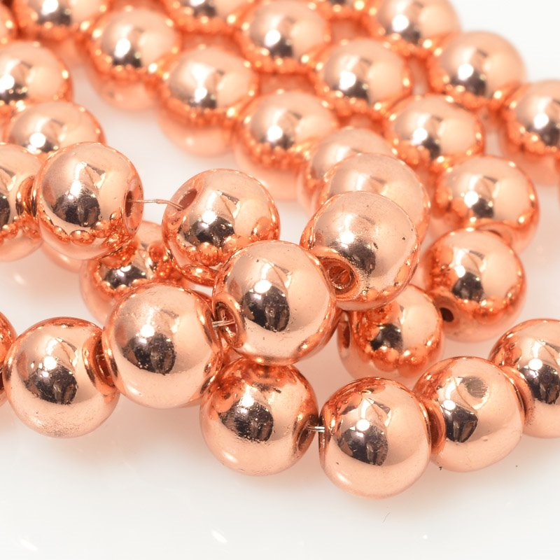 27800108-03 Glass - 8 mm Round - Copper (strand)