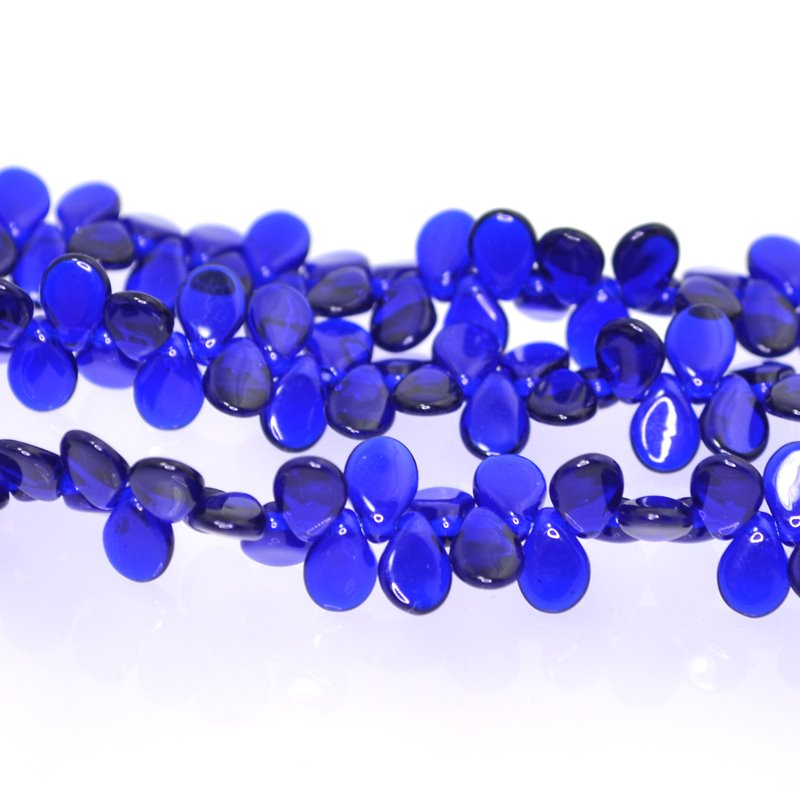 27800960-05 Shaped Glass - 5 x 7 mm Pip Beads - Cobalt (strand)