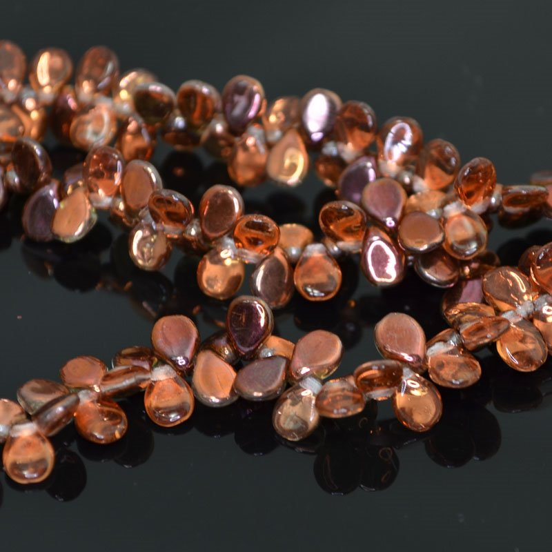 27800960-20 Shaped Glass - 5 x 7 mm Pip Beads - Crystal Sunset (strand)
