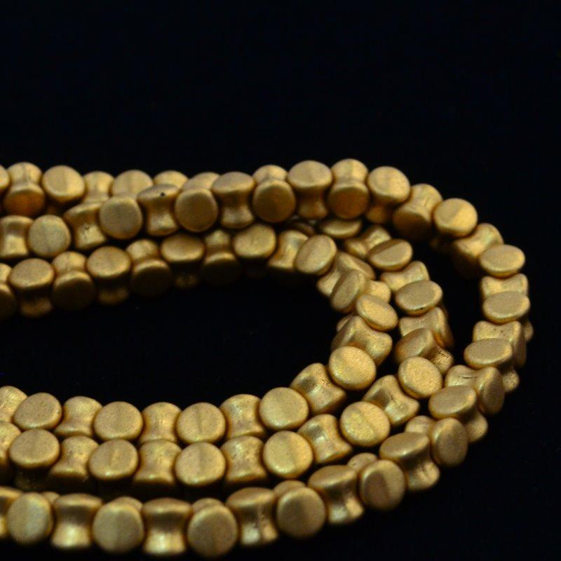 27800964-37 Glass -  Pellet Beads - Metallic Gold (Strand 44)