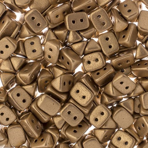 27801721-02 Czech Seedbeads - 2 Hole Trios - Bronze Pale Gold (tube)