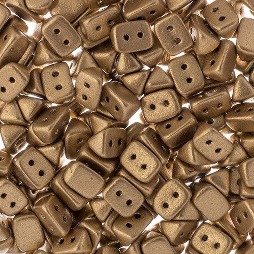 27801721-02b Czech Seedbeads - 2 Hole Trios - Bronze Pale Gold (300 pcs)