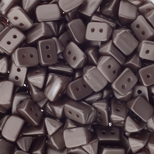 27801724-08 Czech Seedbeads - 2 Hole Trios - Brown Pastel (tube)
