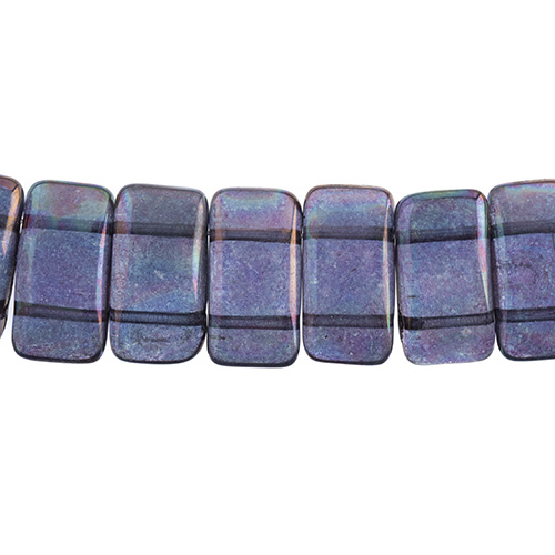 27801770-02 Finding - Glass Carrier Beads - Crystal/ Iris Vega Fullcoat (strand 15)