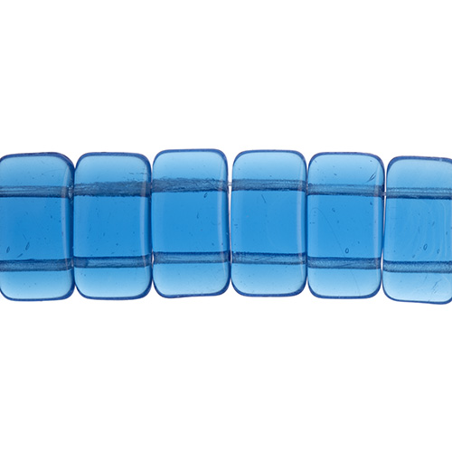 27801774-02 Finding - Glass Carrier Beads - Capri Blue (strand 15)