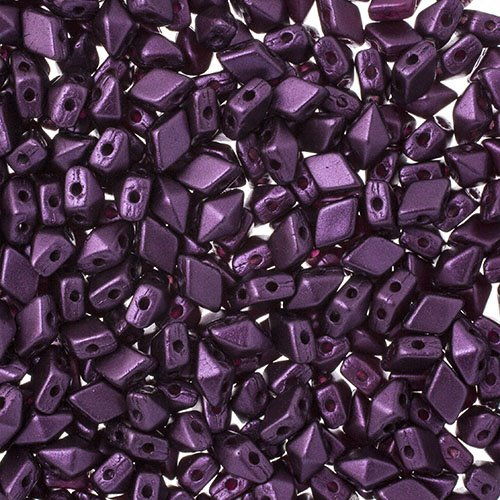 27888121-17V Czech Shaped Beads - 2 Hole Mini DiamonDuo - Pastel Bordeaux (tube)