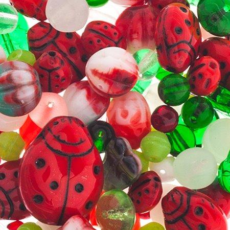 27898000-21 Bead Mix - Czech Glass Bead Mix - Lady Garen (50 g)