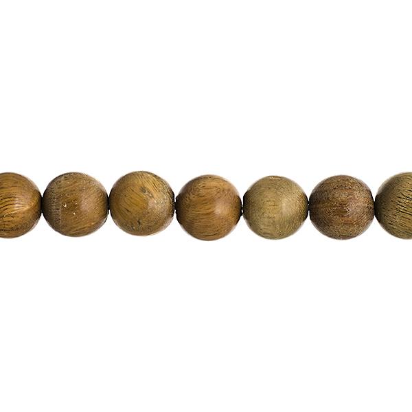 286013021-00 Wood Beads - 8 mm Round Sandalwood - Light Green (strand)