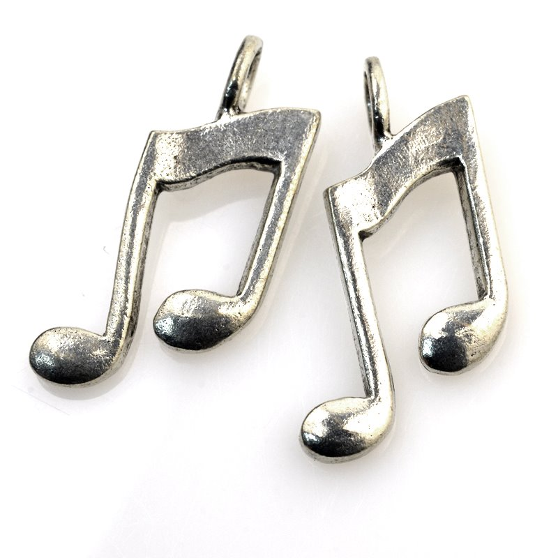 32601014 Charm/Pendant - Musical Note - Antiqued Silver