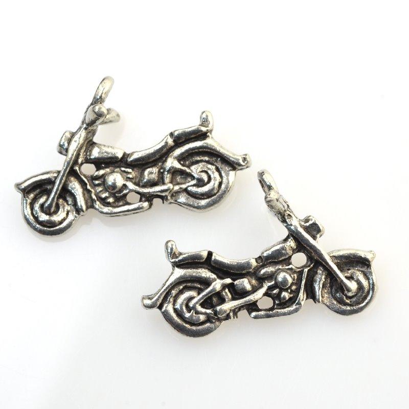 32601025 Charm/Pendant - Motorbike - Antiqued Silver