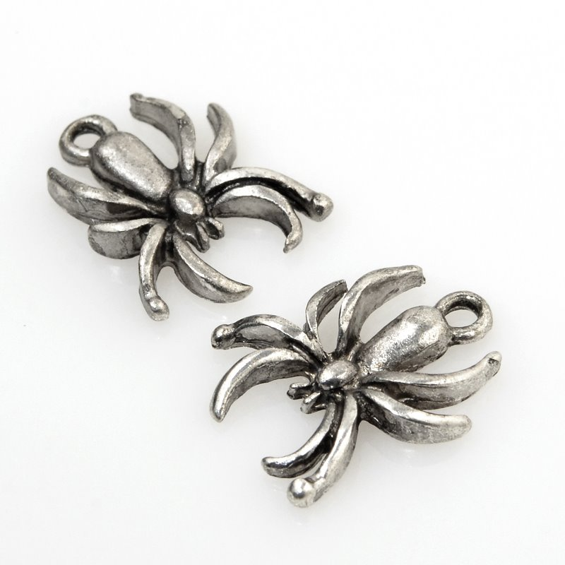 32634251 Charm/Pendant - Spider - Antiqued Silver