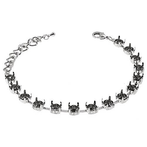 34035750-00 Findings - SS 29 Empty Cupchain Bracelet - Imitation Rhodium