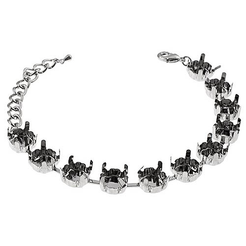 34035751-00 Findings - SS 39 Empty Cupchain Bracelet - Imitation Rhodium