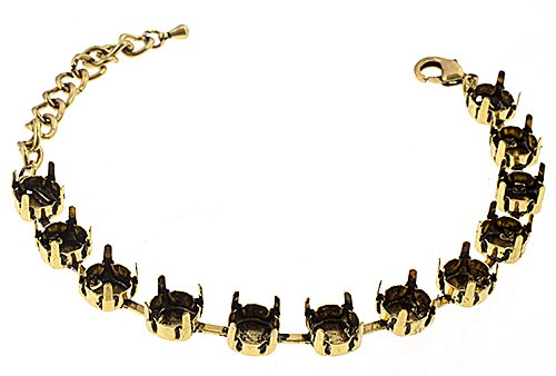 34035751-02 Findings - SS 39 Empty Cupchain Bracelet - Antiqued Brass