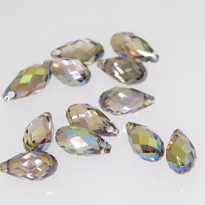 34760100096006 Swarovski Elements Bead - 5.5 x 11 mm Briolette Drops (6010) - Crystal Iridescent Green (1)