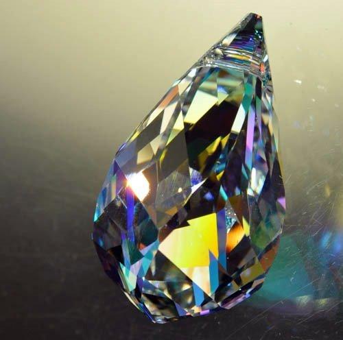 34760200075001 Swarovski Elements Pendant - 37 mm Spiral Helix Drop (6020) - Crystal AB (1)