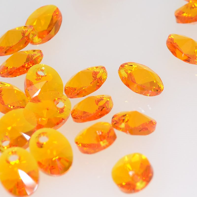 34760280010259 Swarovski Elements - 8 mm Pendant Oval (6028) - Tangerine (1)