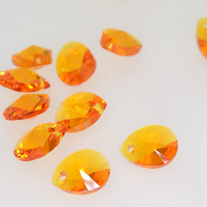 34761281035259 Swarovski Pendant - 10 mm Mini-Pear (6128) - Tangerine (1)