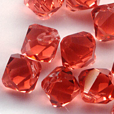34763011022542 Swarovski Elements - 6 mm Top-Drilled Bicone (6301) - Padparadscha (1)