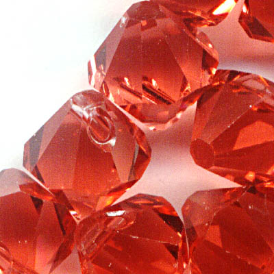 34763011056542 Swarovski Elements - 8 mm Top-Drilled Bicone (6301) - Padparadscha (1)