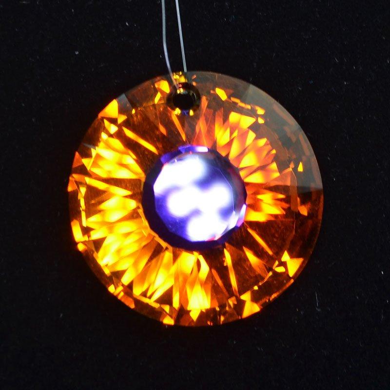 34767241551009 Swarovski Crystal Pendant - 33 mm Sun (6724) - Crystal Volcano (1)